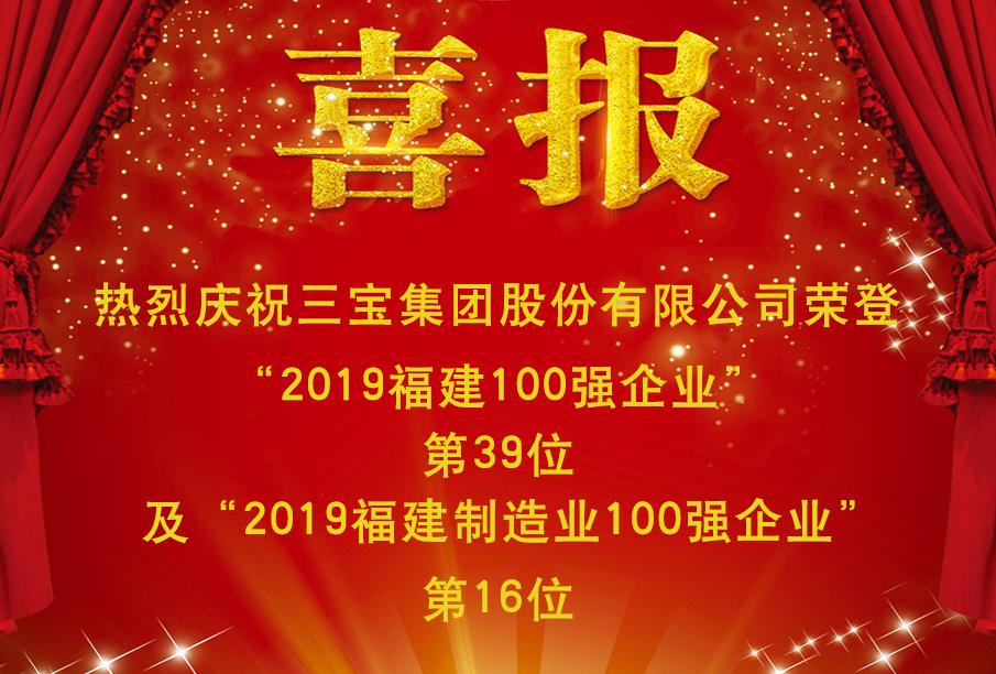 热烈祝贺威廉希尔体育iOS集团荣登2019福建企业100强